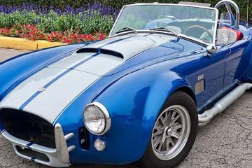 Shiny sports car after ceramic coating application